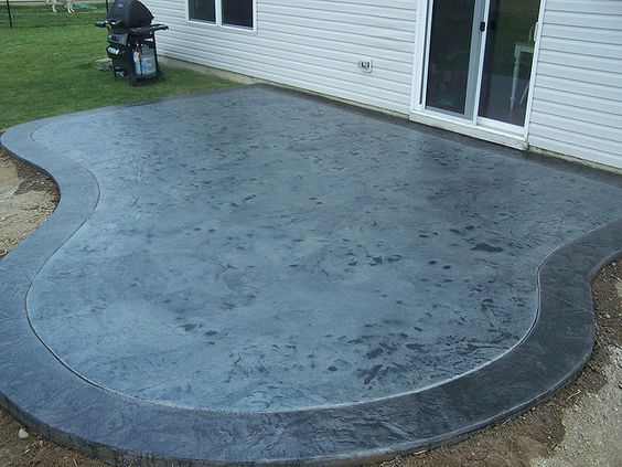 Clean concrete stains and acrylics on pinterest for Acid wash concrete patio