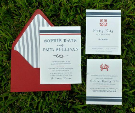 Nautical Wedding Invitation  Anchor Wedding by DHFitzgerald