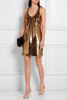 Tom Ford Sequined Stretch-Tulle Mini-dress