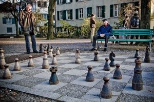 Hang out at the Lindenhof and watch the gentlemen play chess, also has the best views of Zurich.