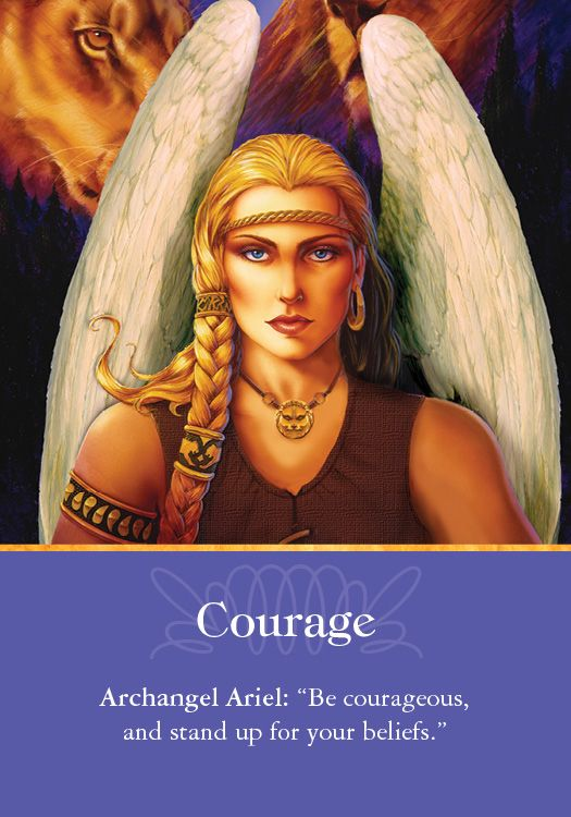 Oracle Card Courage | Doreen Virtue | official Angel Therapy Web site: