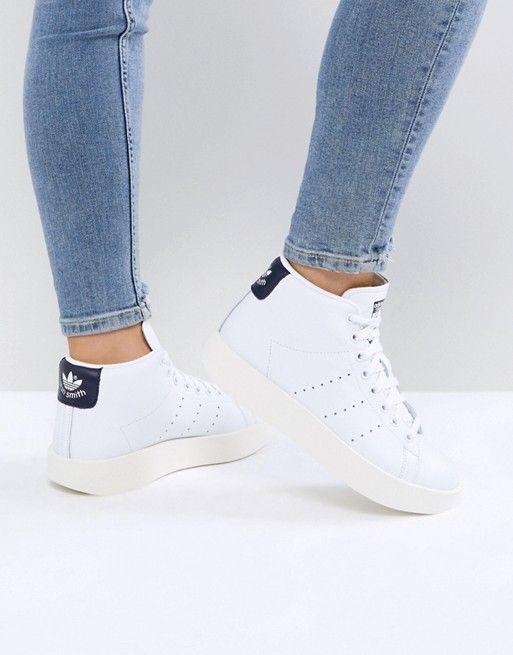 adidas Originals White Stan Smith Bold