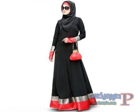اجمل صور عبايات سوداء 18 اجمل صور عبايات سوداء موديلات عبايات 2018 خليجية جديدة Islamic Clothing Fashion Muslim Women