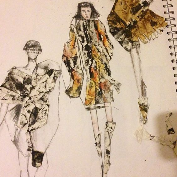 Samasti Rai - Working on my sketchbook ‪#‎fashionillustration‬ ‪#‎sacks‬