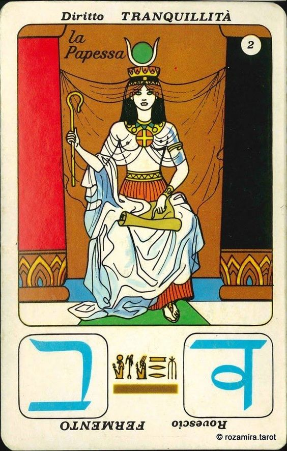 aperol tarot - High Priestess