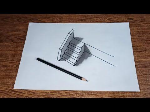 Cara Menggambar 3d Tangga Untuk Pemula Part 11 Youtube Cara Menggambar Gambar 3d Gambar