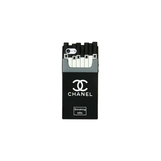 Iphone 6 Chanel cigarette case ❤ liked on Polyvore featuring accessories, tech accessories and chanel