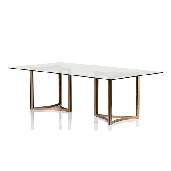 Manhattan Glass Top Dining Table With Images Glass Top Dining Table