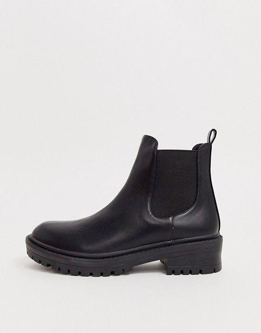 RAID Radar Black Chunky Chelsea Boots