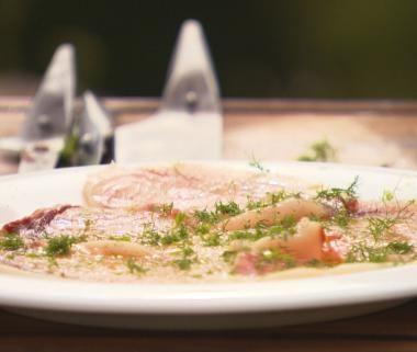 Carpaccio van zwaardvis met sinaasappelmarinade (bekijk video) - Njam Tv - Peppe Giacommaza !