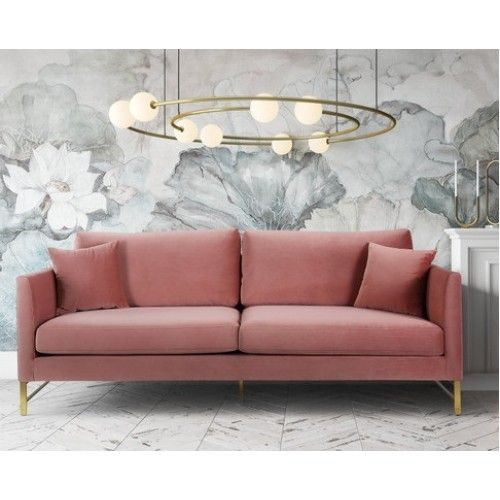 Rose Dusty Pink Velvet Sofa Gold Legs Pink Velvet Sofa Velvet