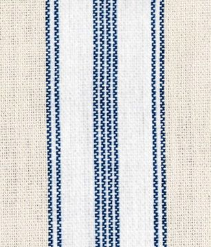 French Country ticking / linen look / lined valance in blue, cocoa ...