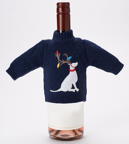 Food Network™ Dog with Antlers Sweater Wine Bottle Cover #Kohls #FoodNetwork #GiftIT