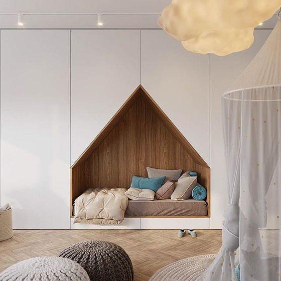 Não é fácil achar projetos diferentões de quartos de crianças, mas buscando bem... a gente sempre encontra!