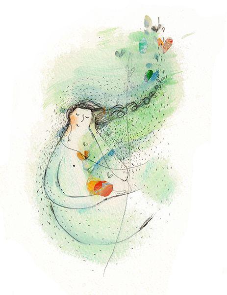 'winter solitude' - Vicky Alvarez art illustration