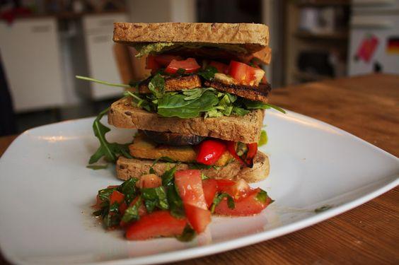 Tofu Sandwich #vegan #vegetarian #rezepte #vegetarisch #recipe
