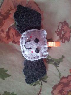 Murcielago de fieltro #murcielago #halloween #miedo #fieltro #llavero #diy