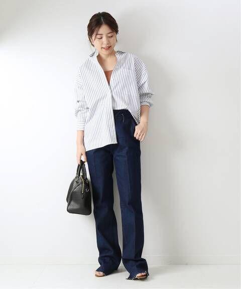 予約 パールボタンオーバーシャツ spick and span スピック スパン 公式のファッション通販 20050200301010 baycrew s store オーバーシャツ ファッション ファッション通販