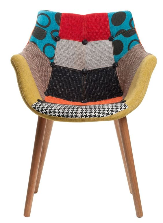 chair eleven patchwork by zuiver at stealtheroomcom - Chaise Eleven Patchwork Colors