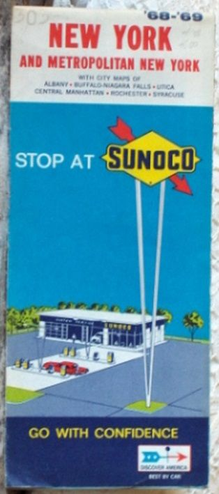 http://ajunkeeshoppe.blogspot.com/  ROAD MAP 1969 Sunoco Highways And Towns In New York State