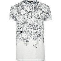 Weißes T-Shirt mit Totenkopfmotiv - Bedruckte T-Shirts - T-Shirts/Trägertops - Herren