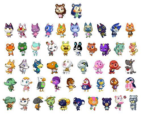 Animal Crossing Characters Icon Iconic Board Pinterest - Acnl Hairstyles