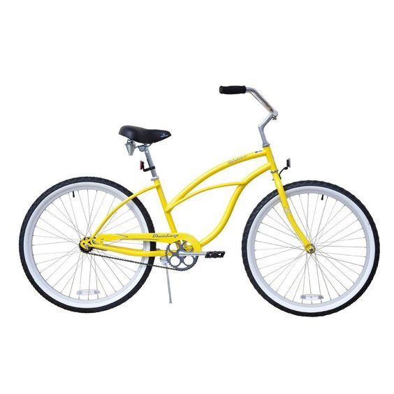 "Amazon.com: Beach Cruiser Bicycle Woman 26"" Firmstrong Urban Lady single speed (1sp) - yellow: Sports & Outdoors"
