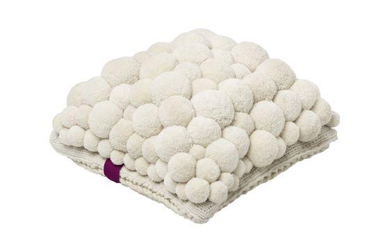 POM POM     MYK cushion coloured/cream