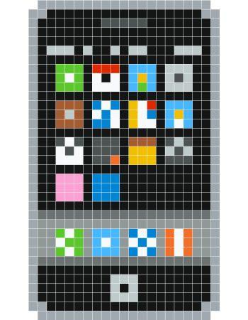 pixel art iphone 5