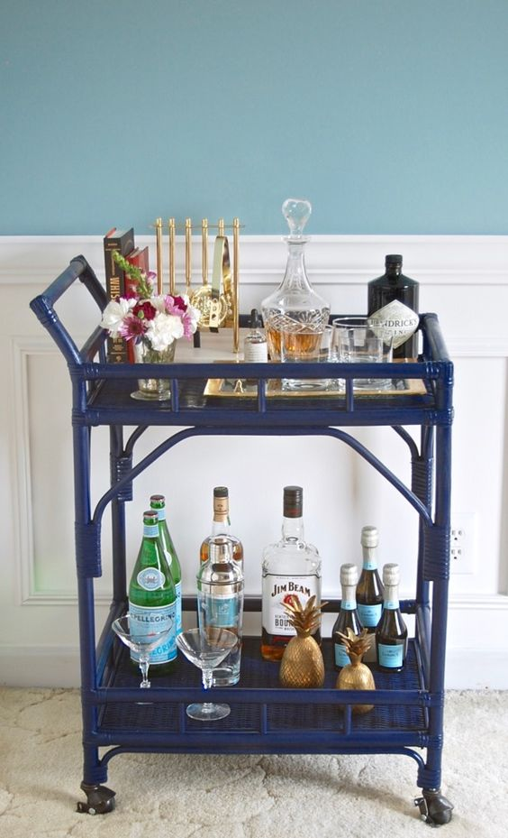 Get the Society Social look for a fraction of the cost with this bar cart DIY - bar carts are a chic entertaining staple