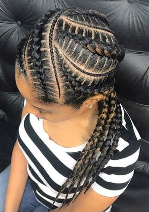 35 Natural Braided Hairstyles Without Weave Natural Braided Hairstyles Hair Styles Braided Hairstyles Easy