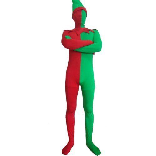 Ganzkörper-Weihnachtsabendkleid Rot und Grün Fancy Dress Lycra Spandex Zentai von Fashion Season, http://www.amazon.de/dp/B00GYSQPWO/ref=cm_sw_r_pi_dp_1pXLsb1SE7JYZ