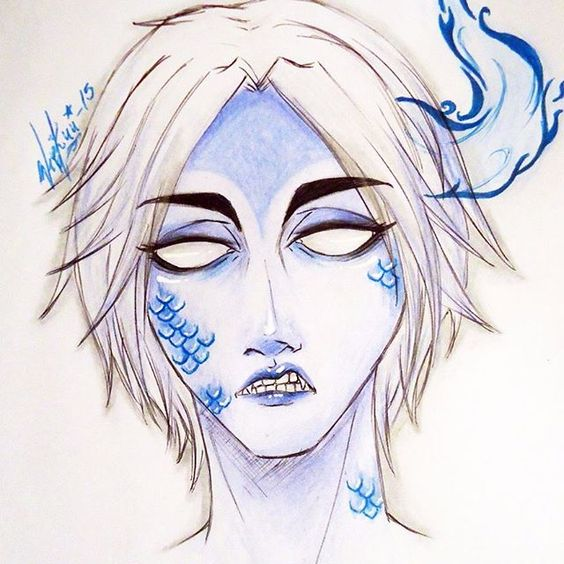 I have to stop drawing demons...but i love it (: well, this drawing was  inspired in @criedwolves make up...i hope  he see it and likes <3 (my english is not good, sorry)  #demon #drawing #colours  #sketch #comicdrawing  #criedwolves #youaresobeautiful <3