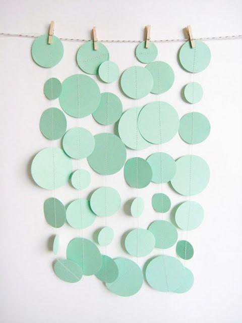 Mint Green Paper Garland