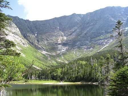 Memories of Chimney Pond, Baxter State Park, Maine  (pic from www.5lakeslodge.com website)