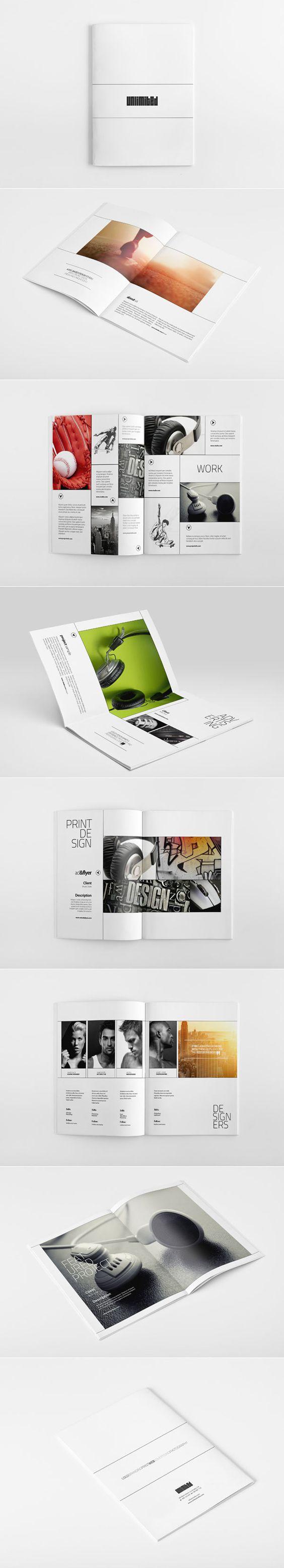 attractive brochure designs - portfolio brochure design ideas 20 simple yet beautiful