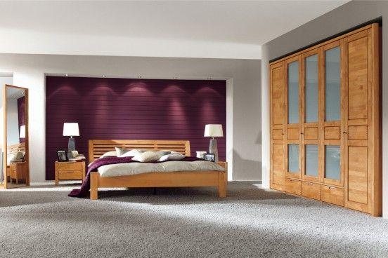 SKY Komplett Schlafzimmer Kiefer weiss \/ eichefarbig gebeizt 248 - schlafzimmer massiv komplett
