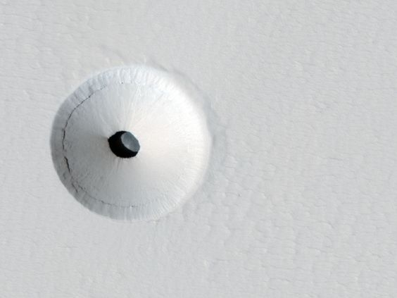 A Hole in Mars | Image credit: NASA, JPL, U. Arizona