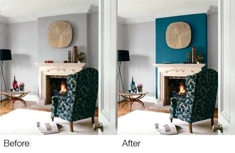 Fireplace Feature Wall Ideas Teal Accent Wall Fireplace Wall But Use Blue Of Chair Accent The Teal With Images Feature Wall Living Room Teal Living Rooms Living Room Paint