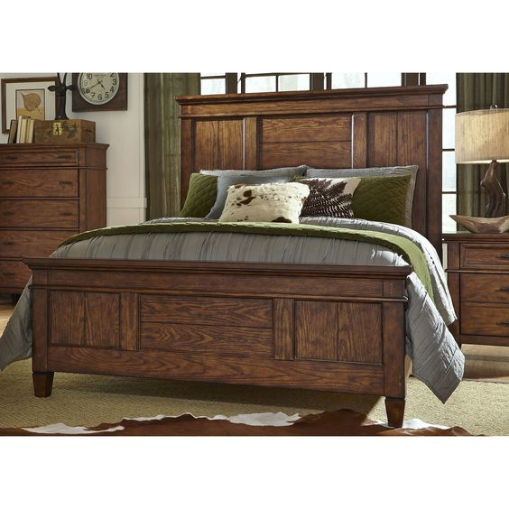 Liberty Rocky Mountain Whiskey Brown Panel Bed Set (Whiskey Brown ...