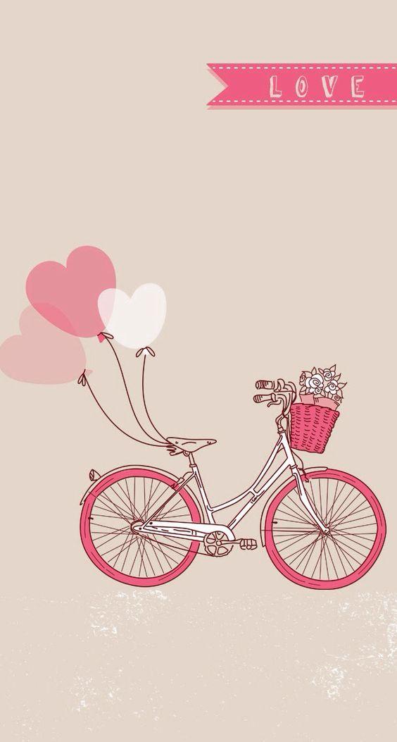 Love Pink Wallpaper Iphone : Fondos para iphone, Bicicletas and Kawaii on Pinterest