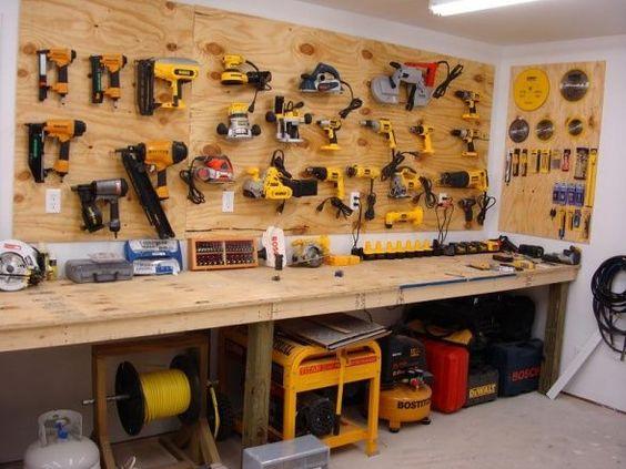 garage workshop organization ideas google search. Black Bedroom Furniture Sets. Home Design Ideas