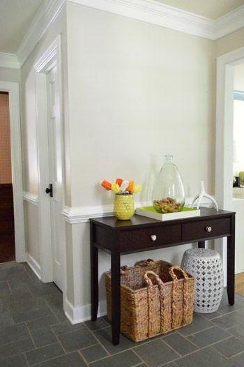 Foyer freshness a soft neutral paint color paint colors for Warm sand paint color