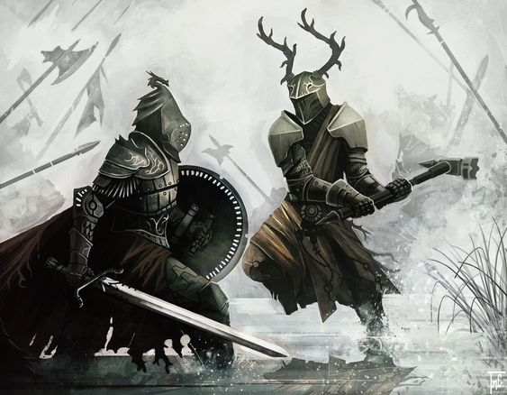 Robert Baratheon and Rhaegar Targaryen at the Battle of the Trident by nJoo. Description from pinterest.com. I searched for this on bing.com/images