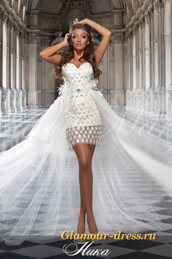 Платье свадебное короткое трансформер