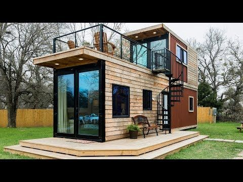Incredible Stunning The Helm 2 Story Container Home By Cargohome Youtube Tiny House Exterior Tiny House Rentals Modern Tiny House