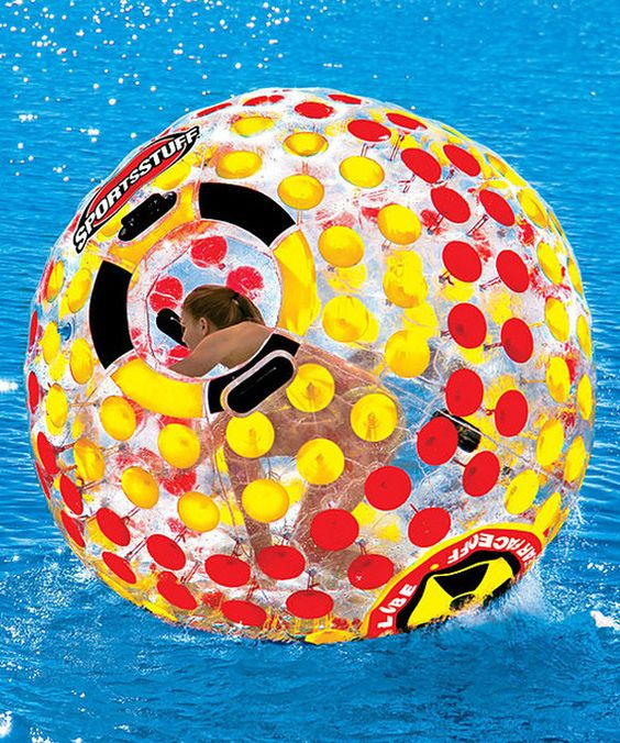 Beach/water ball! I'd love to have one of these! Look at this Nuclear Globe Floater on #zulily today!