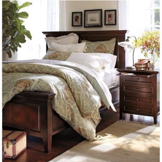 Glass art master bedrooms and picture frame collages on - Pottery barn master bedroom ideas ...