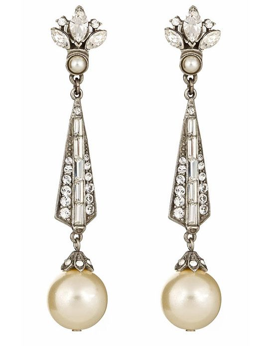 Thomas Laine - Pearl and Crystal Earring - Jewelry