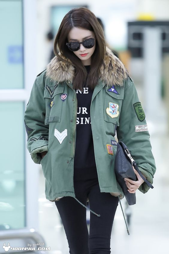 Pictures Of Snsd Yoona Airport Fashion Rock Cafe
